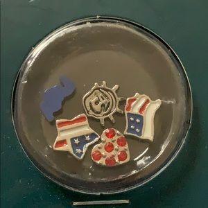 NWT locket charms USA